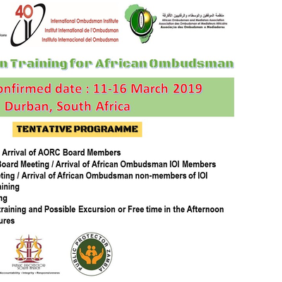 Save the Date! AORC Mediation Training for African Ombudsman