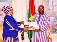 Le Médiateur du Faso, Madame Saran Sereme et le Président  du Faso Roch Marc Christian Kaboré