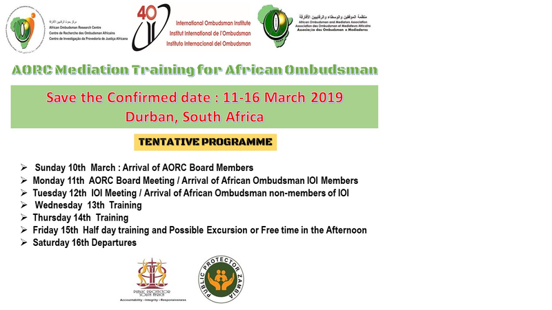 AORC Mediation Training for African Ombudsman - Save the